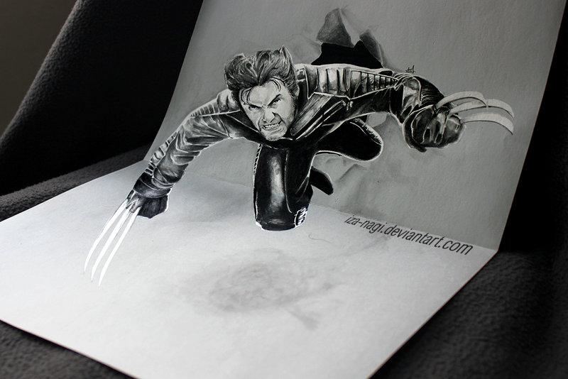 رسم ثلاثي الابعاد... Coacuatchoo-3d-drawing-on-paper