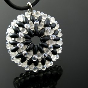 Beaded pendant by CatsWire