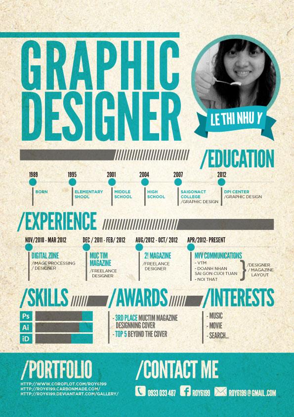 creative resume designs graphic designers